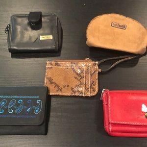 Set of 5 wallets!